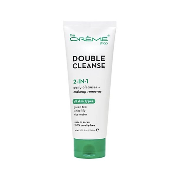 The-Creme-Shop-2-in-1-Facial-Foam-Cleanser-Green-Tea-White-Lily-Rice-Water-150ml